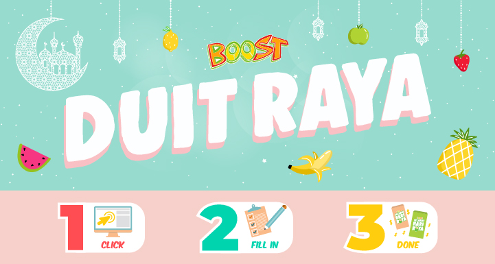 Send Blessings with Boost e-Duit Raya!